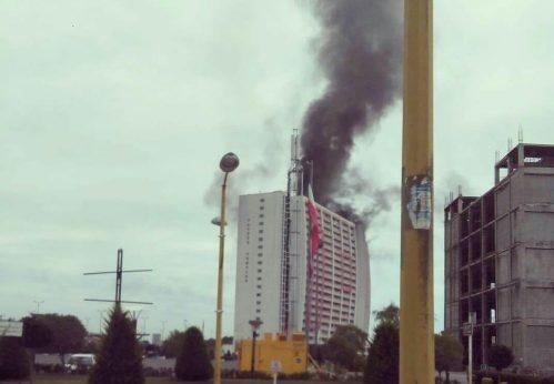 برج طاووس انزلی اخبار بندر انزلی آتش سوزی آپارتمان