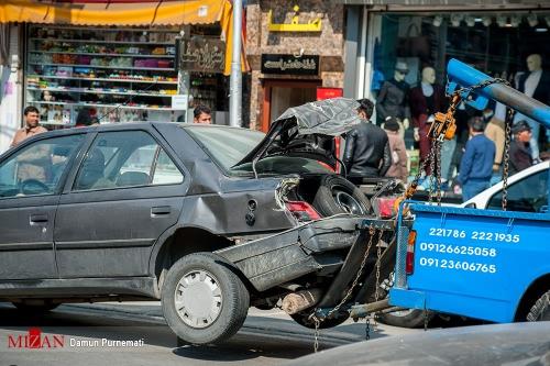حوادث کرج تصادف زنجیره ای تصادف اتوبوس