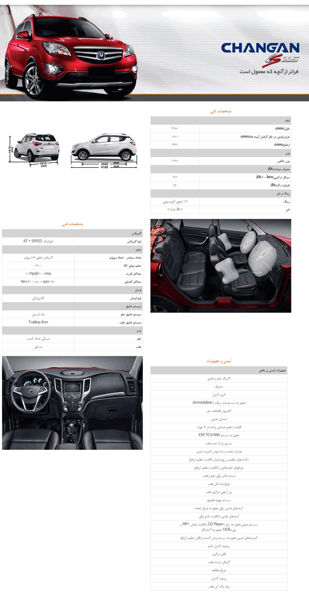 قیمت خودرو چانگان cs35