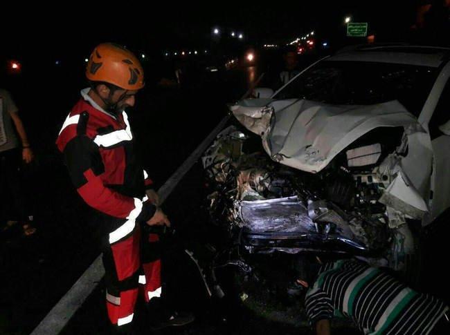 7 کشته و زخمی در تصادف جک با پراید در ساری+تصاویر
